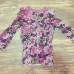 Sunny Leigh floral blouse large